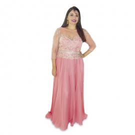Vestido Coral Longo